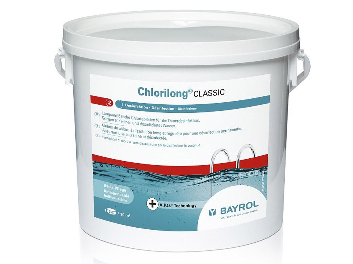 Chlore en galets de 250 g Chlorilong Classic - 10 kg