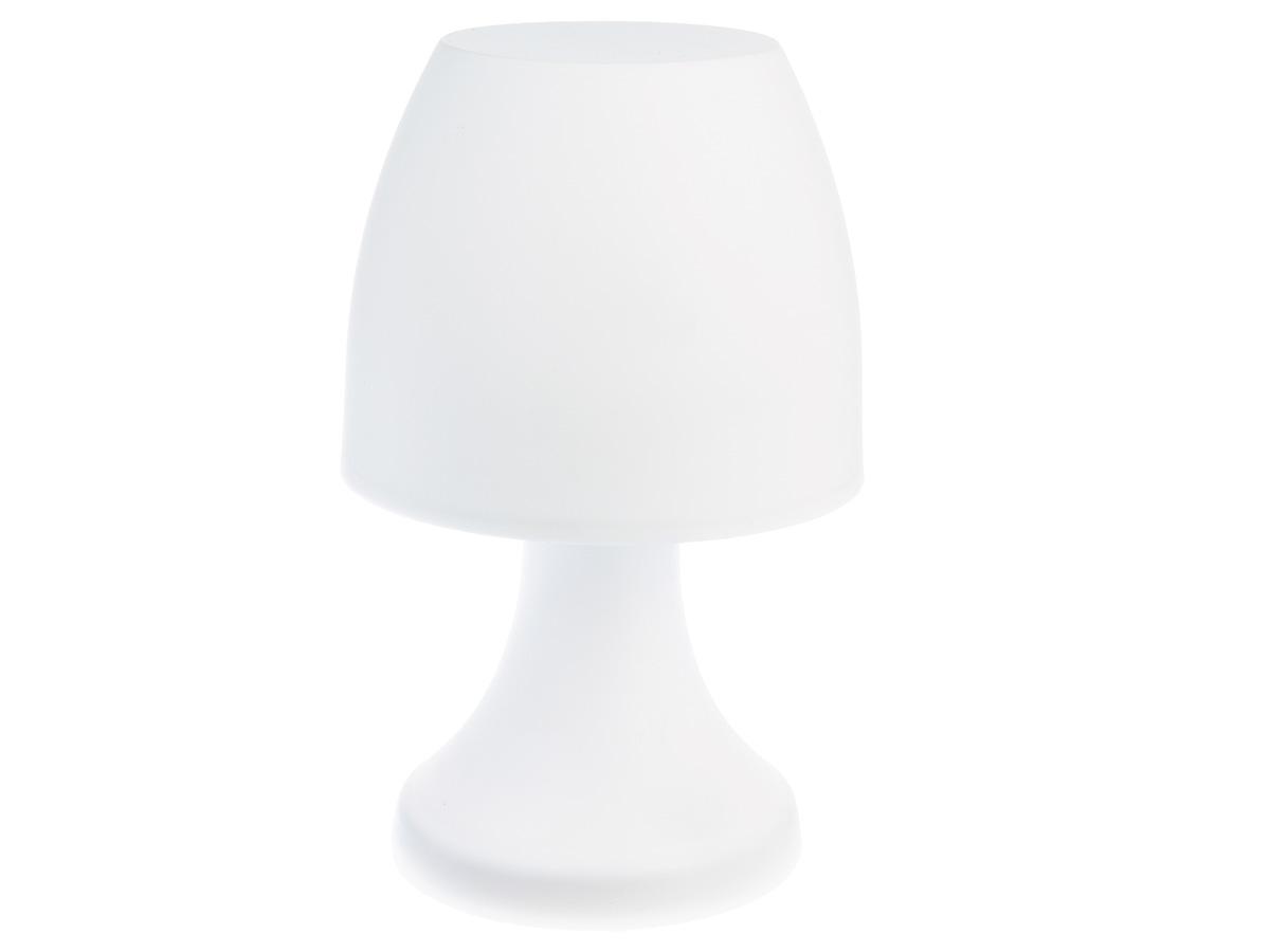 Lampe champignon à poser 19,5 cm - Blanc