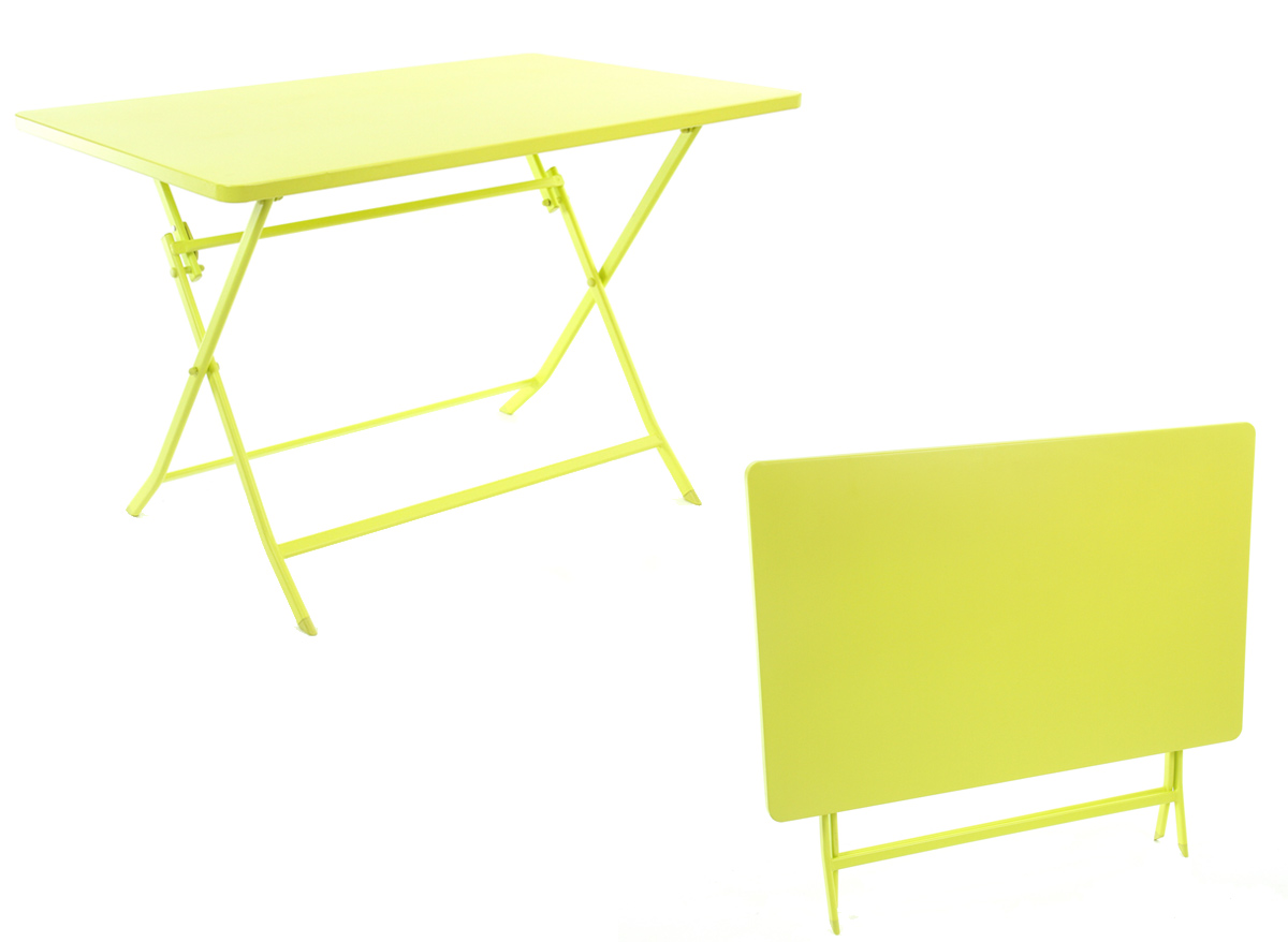 Table de jardin Hespéride rectangle Greensboro 110 x70 cm Absinthe - Hespéride