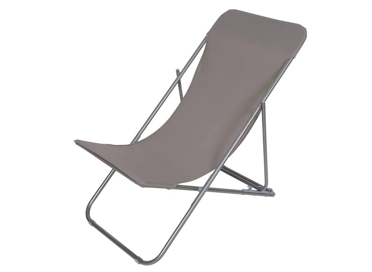 Chaise longue chilienne pliante Setubal Taupe