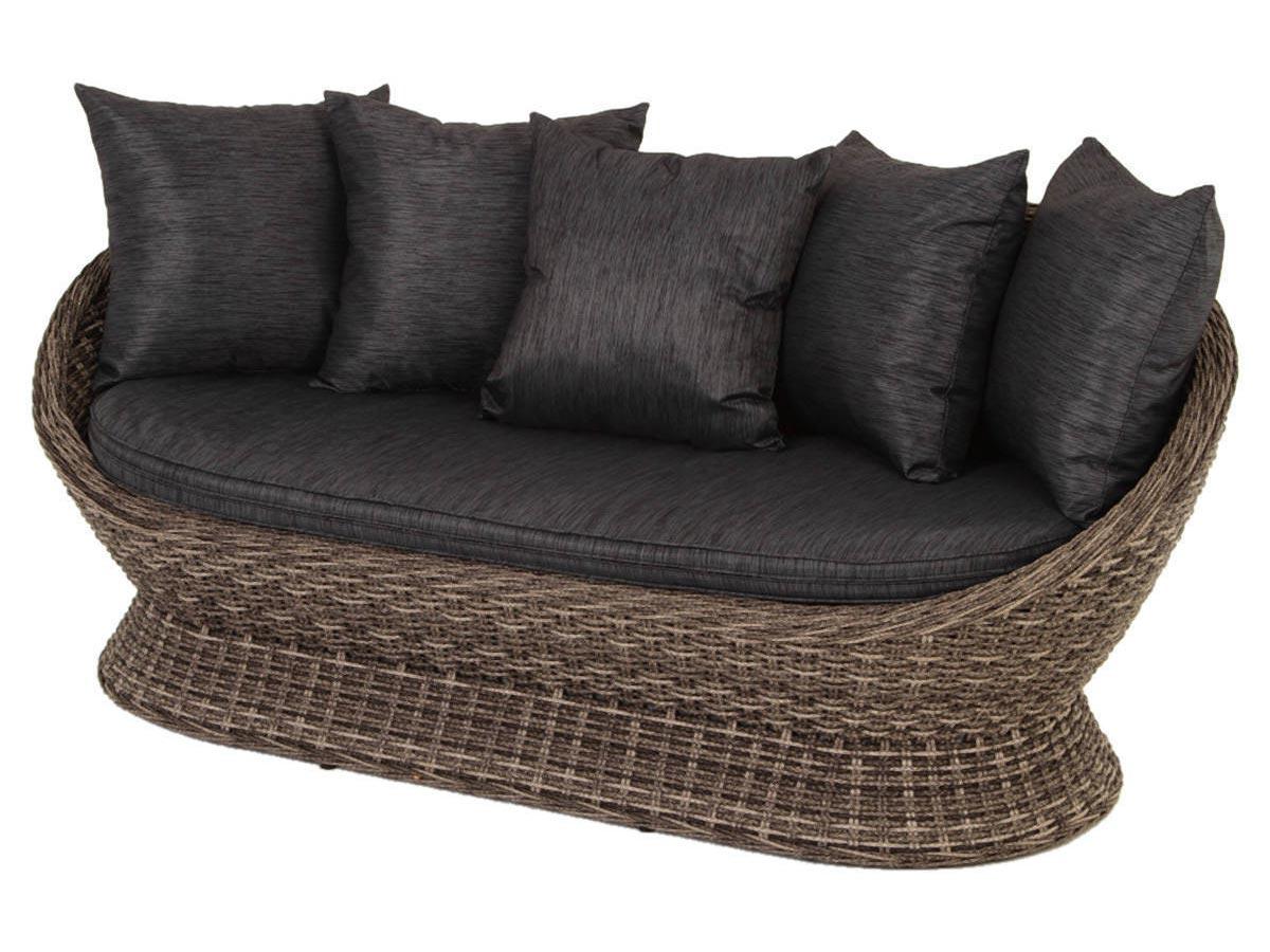 Canapé 3 places pour salon de jardin en résine tressée Cocoa