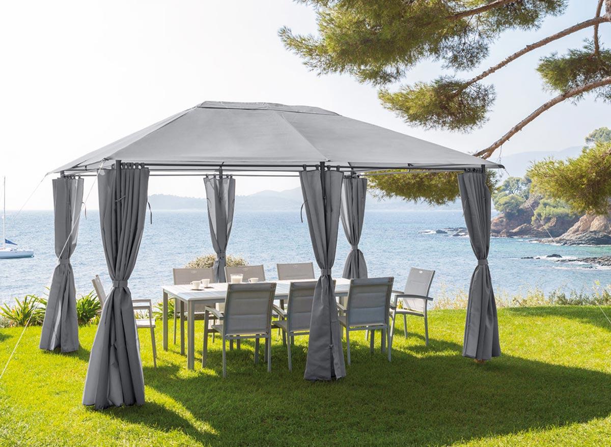 Tonnelle de jardin Santorini 3 x 4 m Ardoise