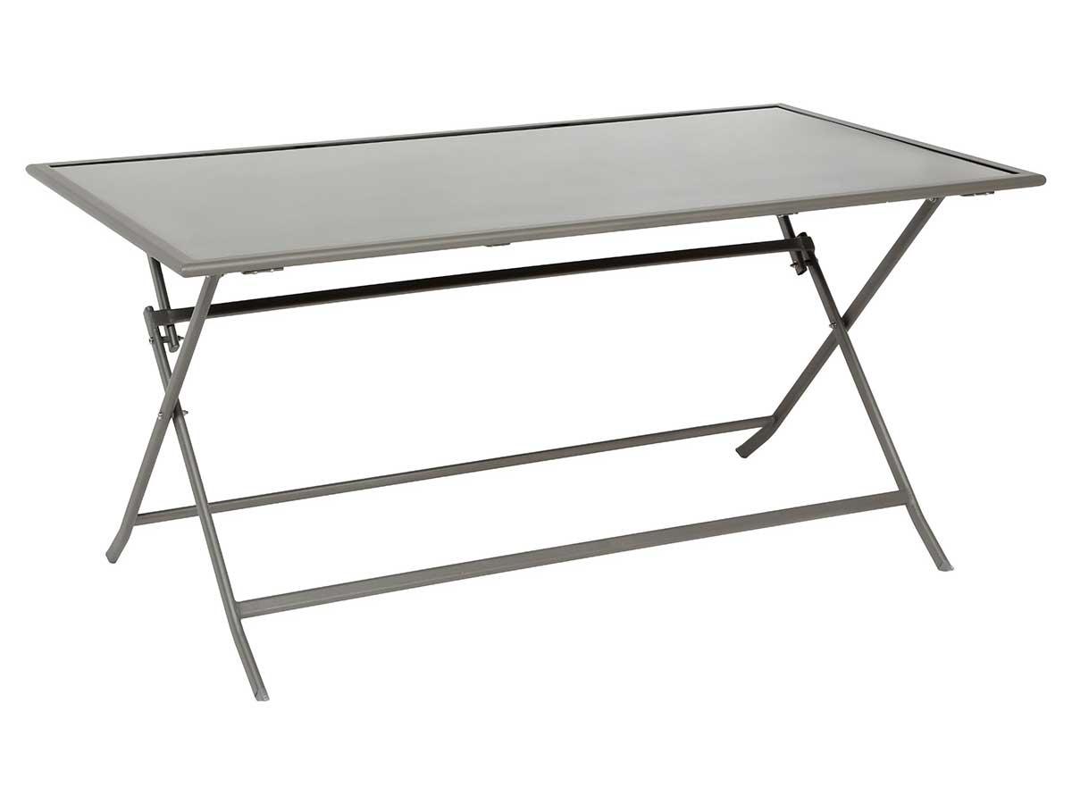 Table de jardin Hespéride rectangle Flexia 6 places Noir/Mastic
