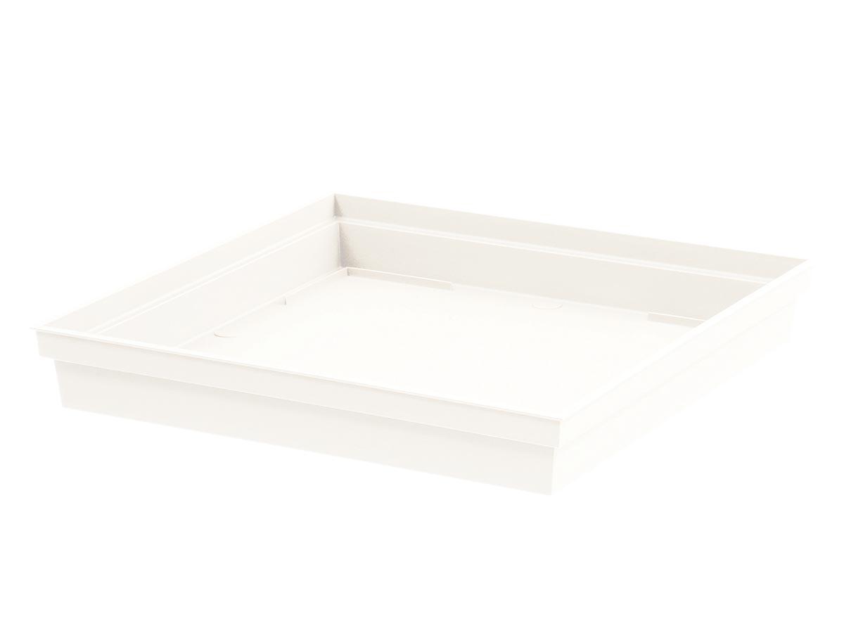Soucoupe Toscane carrée 32,60 x 32,60 cm - Blanc