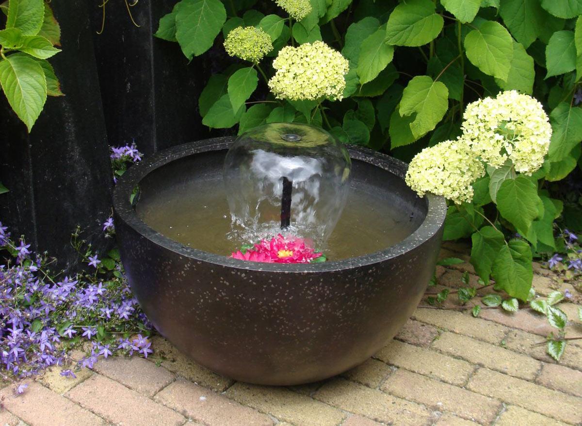 Fontaine de jardin ronde - Noire