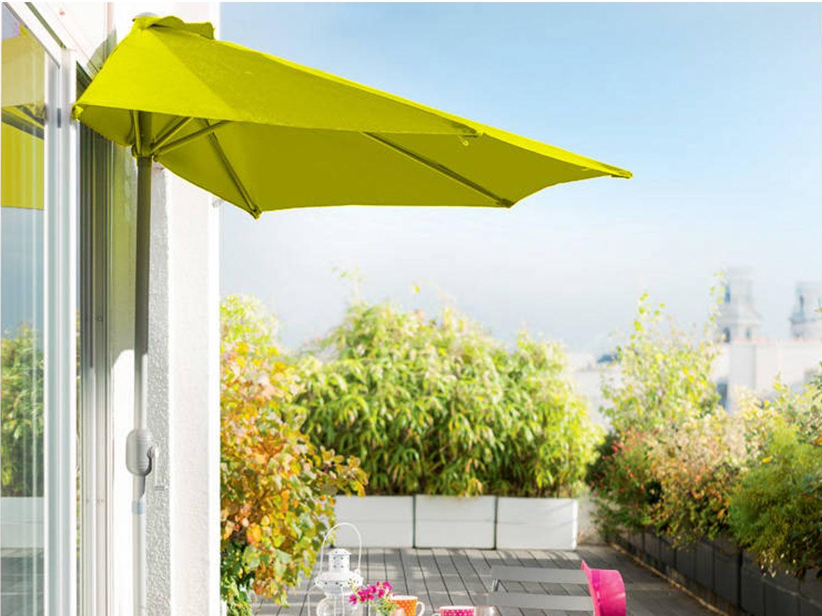 Demi parasol de balcon Serena Pistache