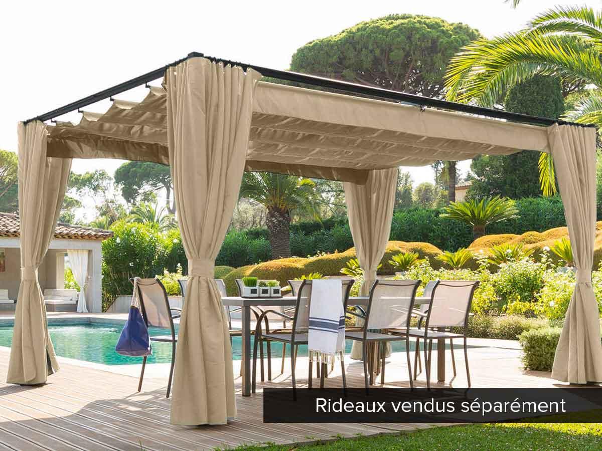 Tonnelle de jardin Palmeira 4 x 3 m Sable
