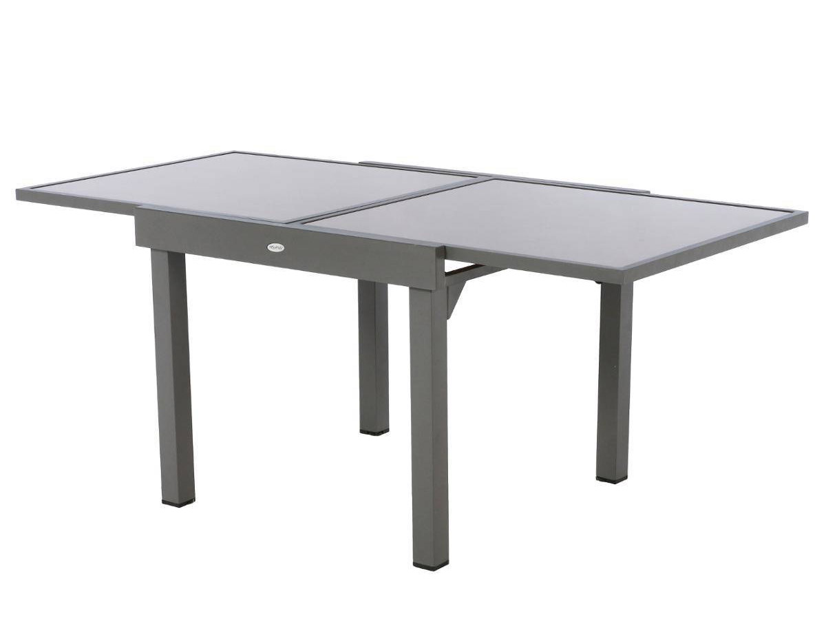 Table extensible carrée Piazza 4/8 places Taupe