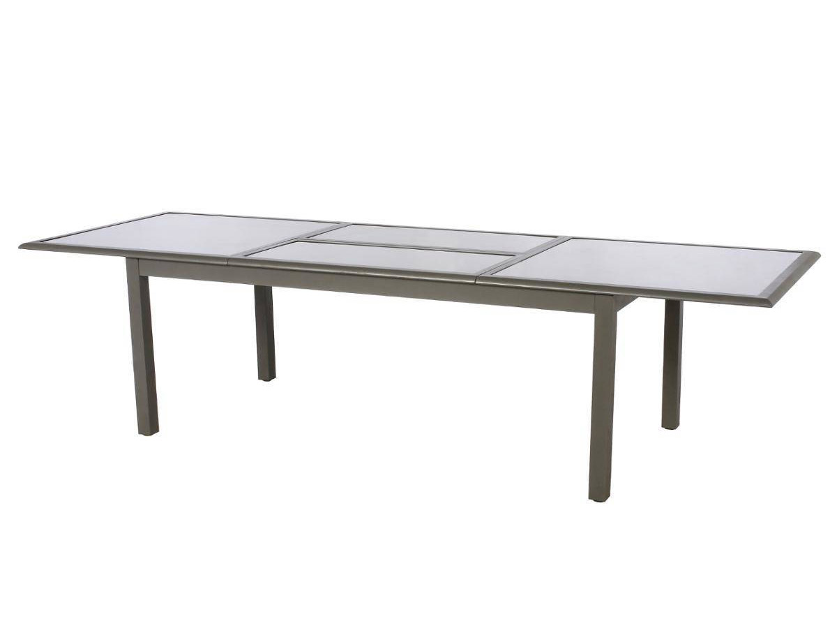 Table extensible rectangulaire Azua 8/12 places Taupe