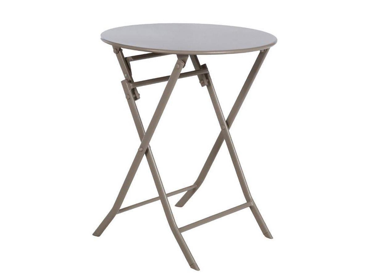 Table de jardin ronde Greensboro Ø 60 cm Taupe