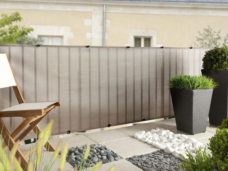Brise vue pour clôture Everly en rouleau 1.00 x 5 m Gris Nortene