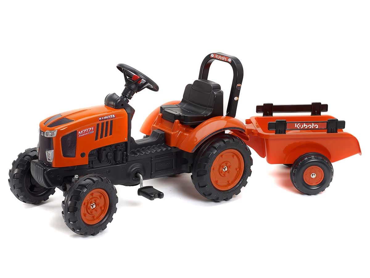 Tracteur enfant Kubota M7171 + remorque