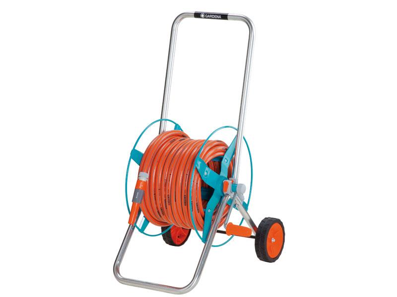 Enrouleur de tuyau sur roues portable