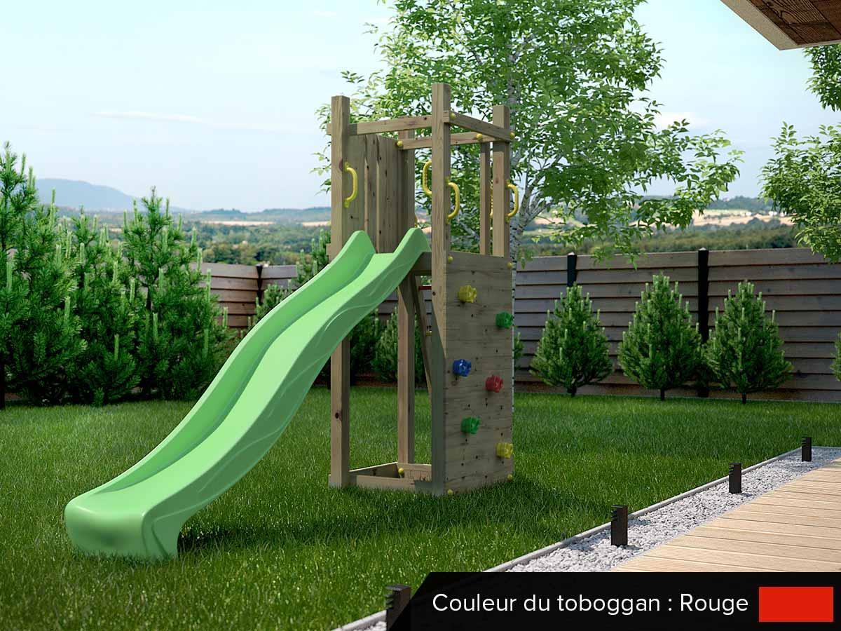 Aire de jeux Funny 3 - Toboggan Rouge