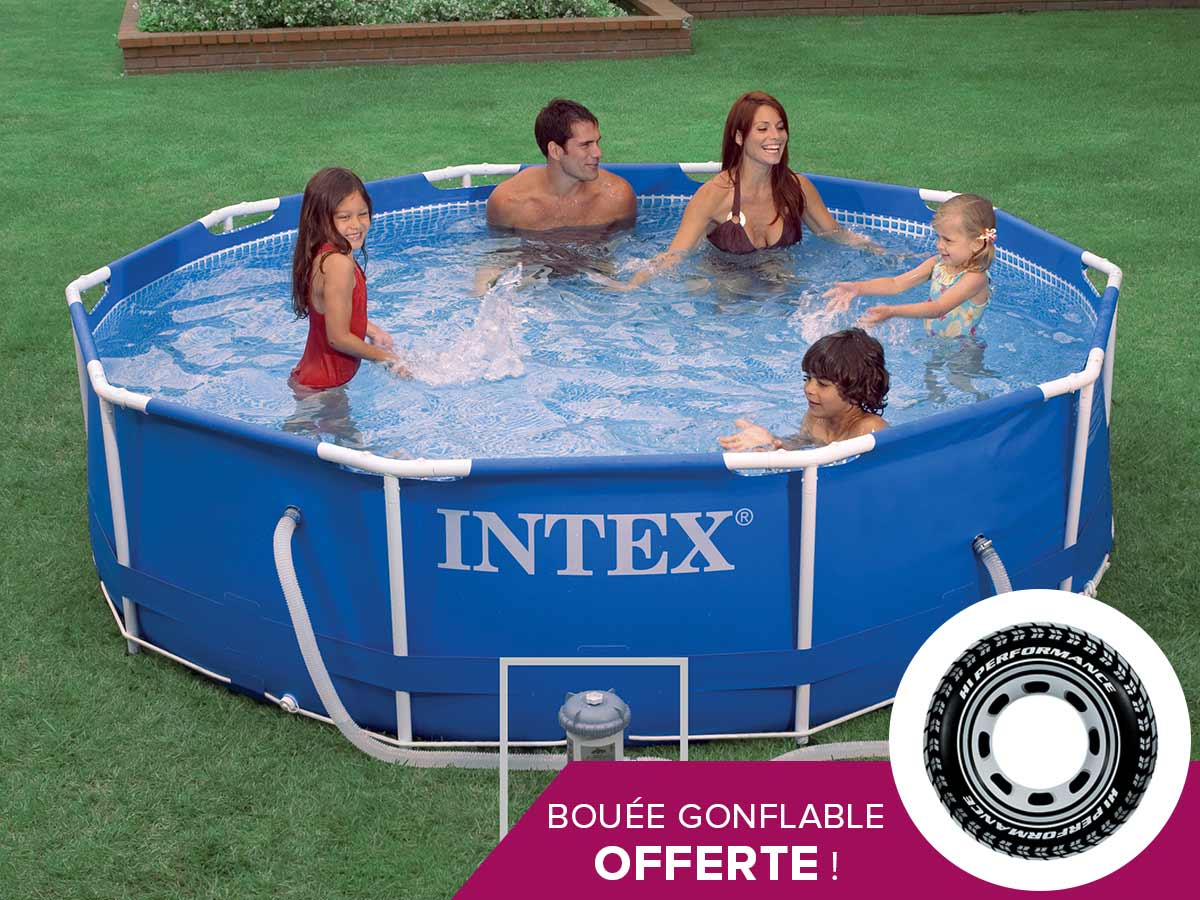 Piscine tubulaire intex ronde 305 x 076 m