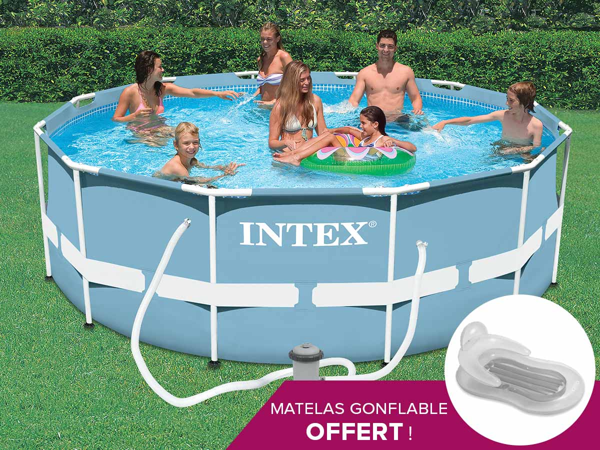 Piscine tubulaire intex ronde 366 x 1.22 m