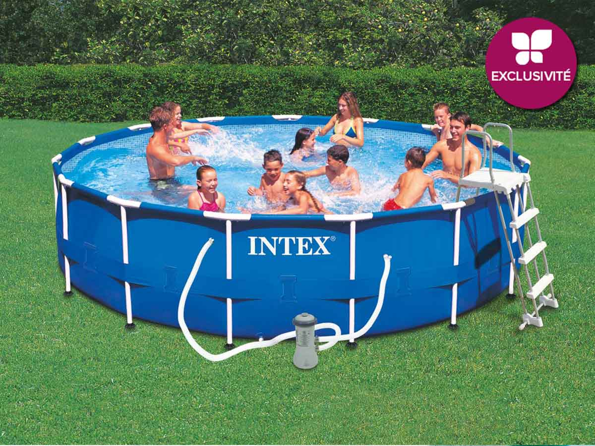 Piscine tubulaire intex ronde 457 x 091 m