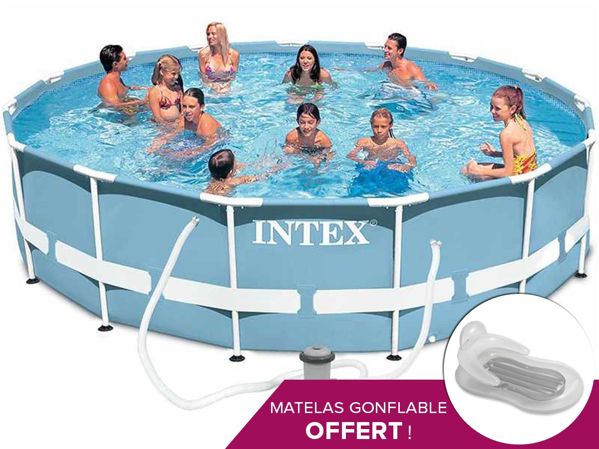 Piscine tubulaire intex ronde 457 x 107 m