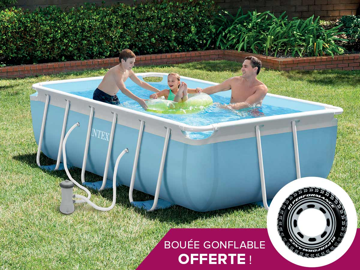 Piscine tubulaire rectangulaire intex 300 x 175 x 080 m