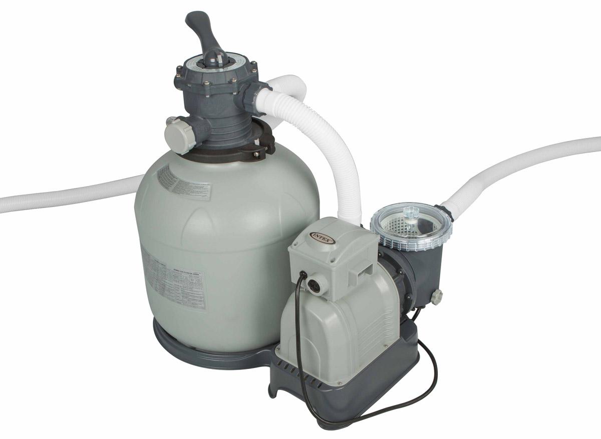 Filtre à sable 10 m³/h INTEX. Filtre à sable 10 m³/h INTEX pour filtrer l'eau de piscine hors-sol. Pompe complète : van