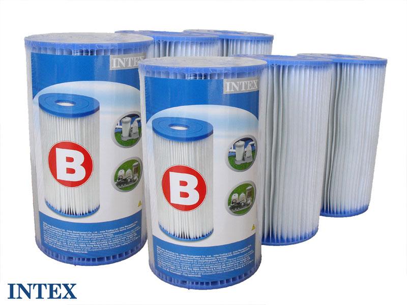 6 cartouches de filtration 'B'