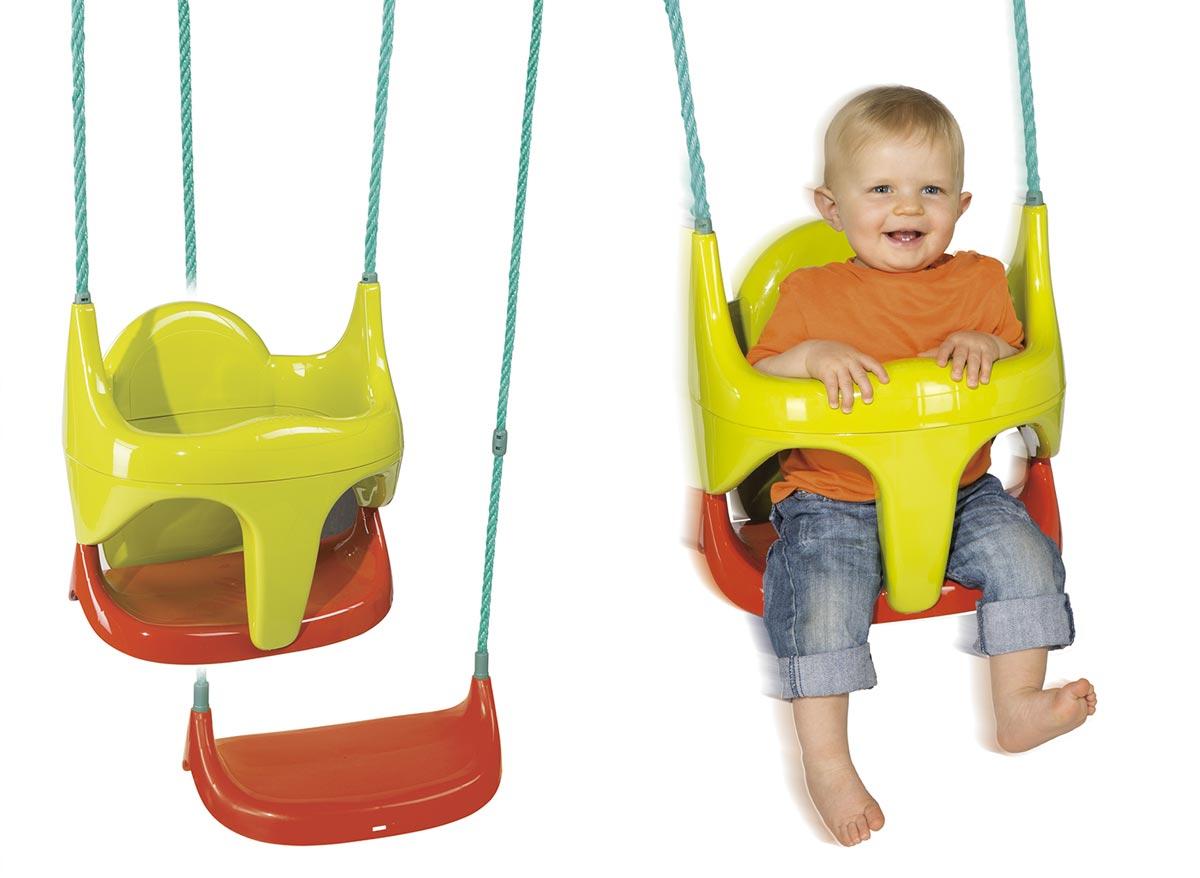 Siège bébé 2 en 1 Smoby - Accessoire balançoire