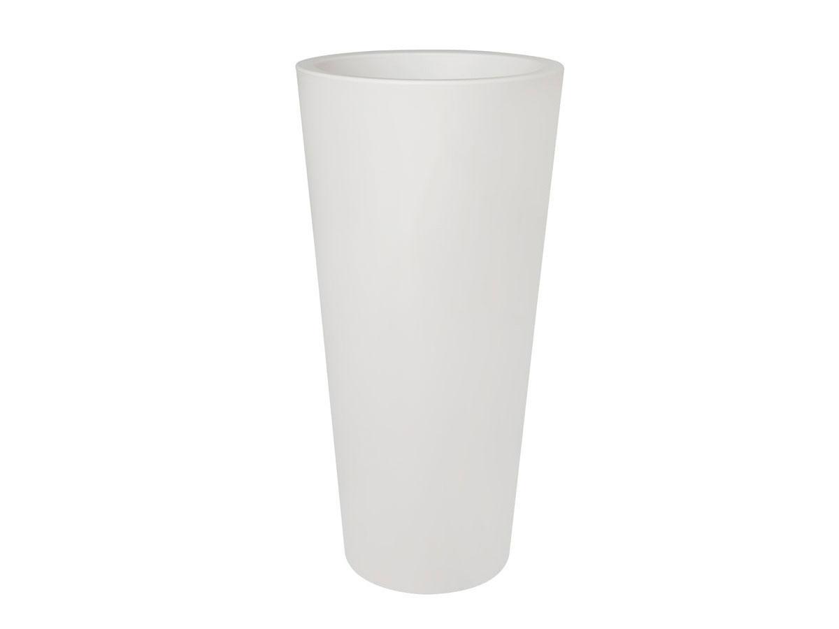 Pot de fleur Pure Straight High Ø 40 x H.80 cm - Blanc