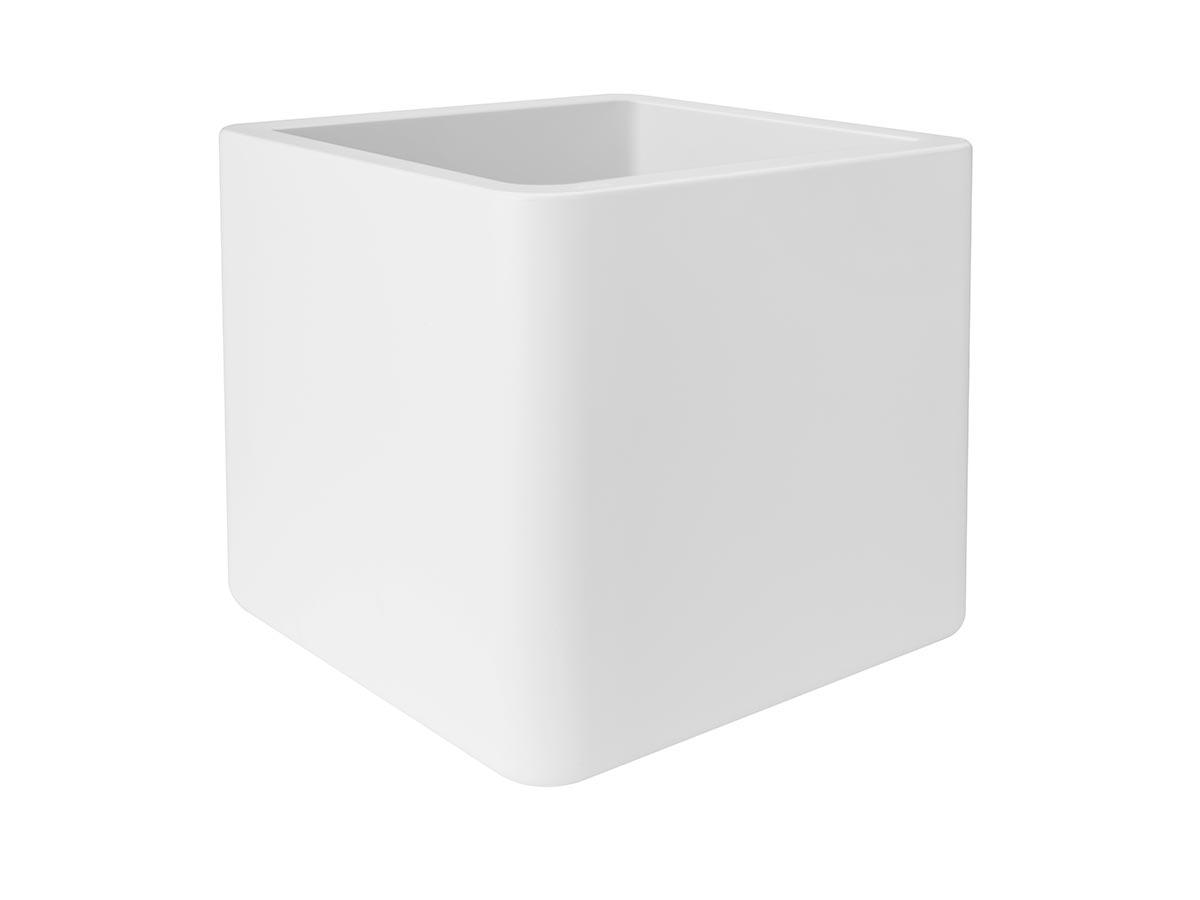 Pot de fleur Pure Soft Brick 40 x H.40 cm - Blanc