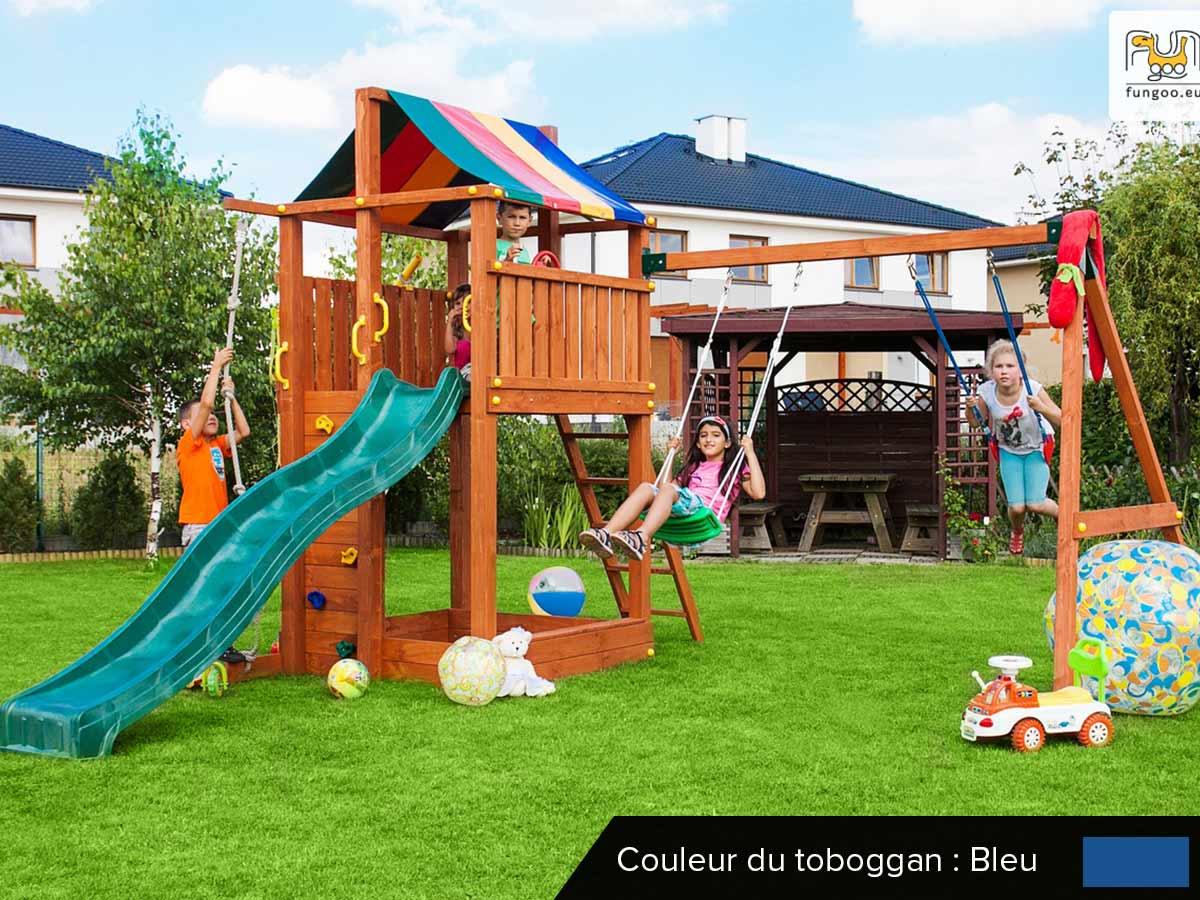 Aire de jeux Paradise Move - Toboggan Bleu