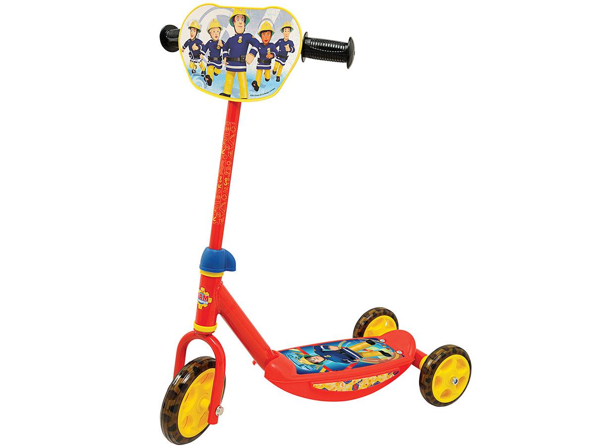 Trottinette 3 roues enfant Sam le Pompier Smoby