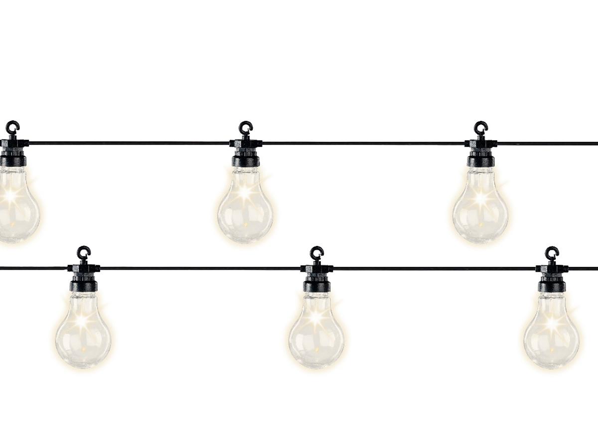 Guirlande lumineuse 20 Led ampoules XL - Blanc chaud