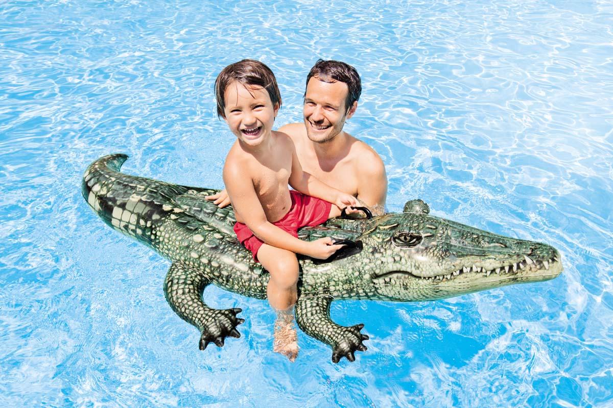 Crocodile gonflable à chevaucher - Intex