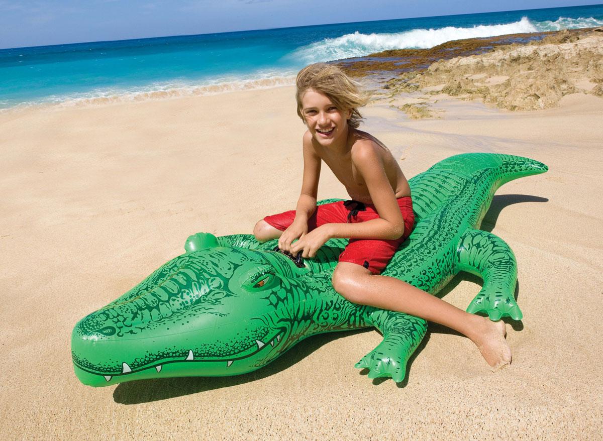 Grand crocodile à chevaucher - Intex