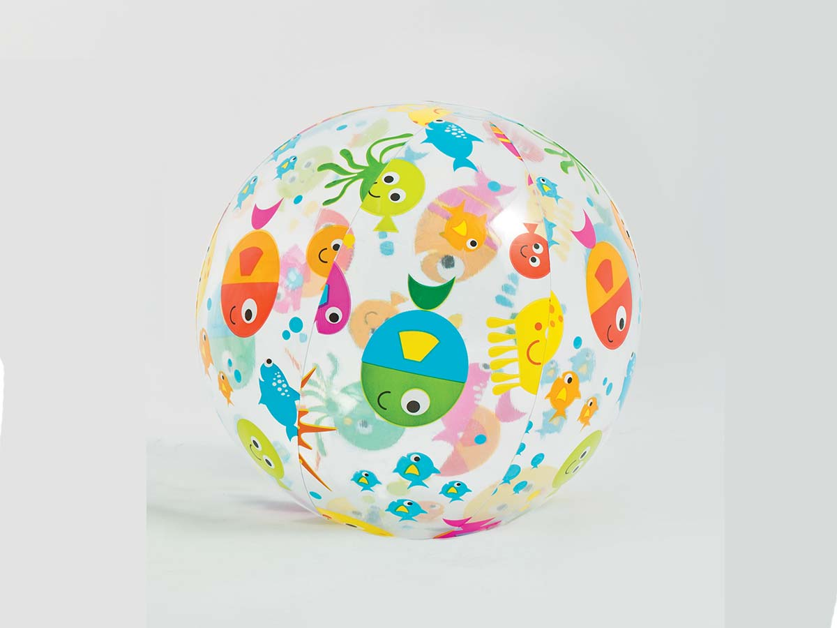 Ballon de plage gonflable imprimé poisson 51 cm Intex
