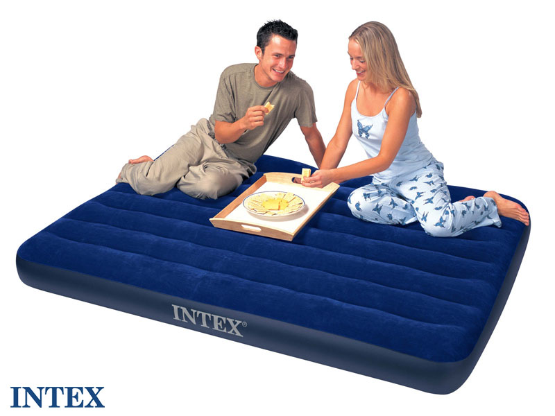 Matelas de camping classic downy 2 places - intex