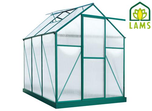 Serre en alu verte et polycarbonate PENSEE JANY - 4,46 m² pour 575€