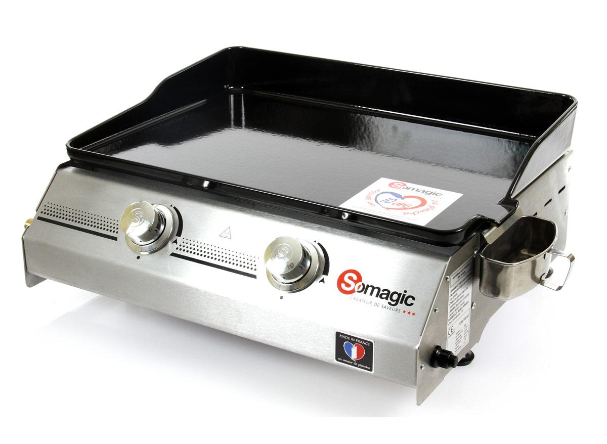 Plancha gaz 2 brûleurs Made in France - 7 kW