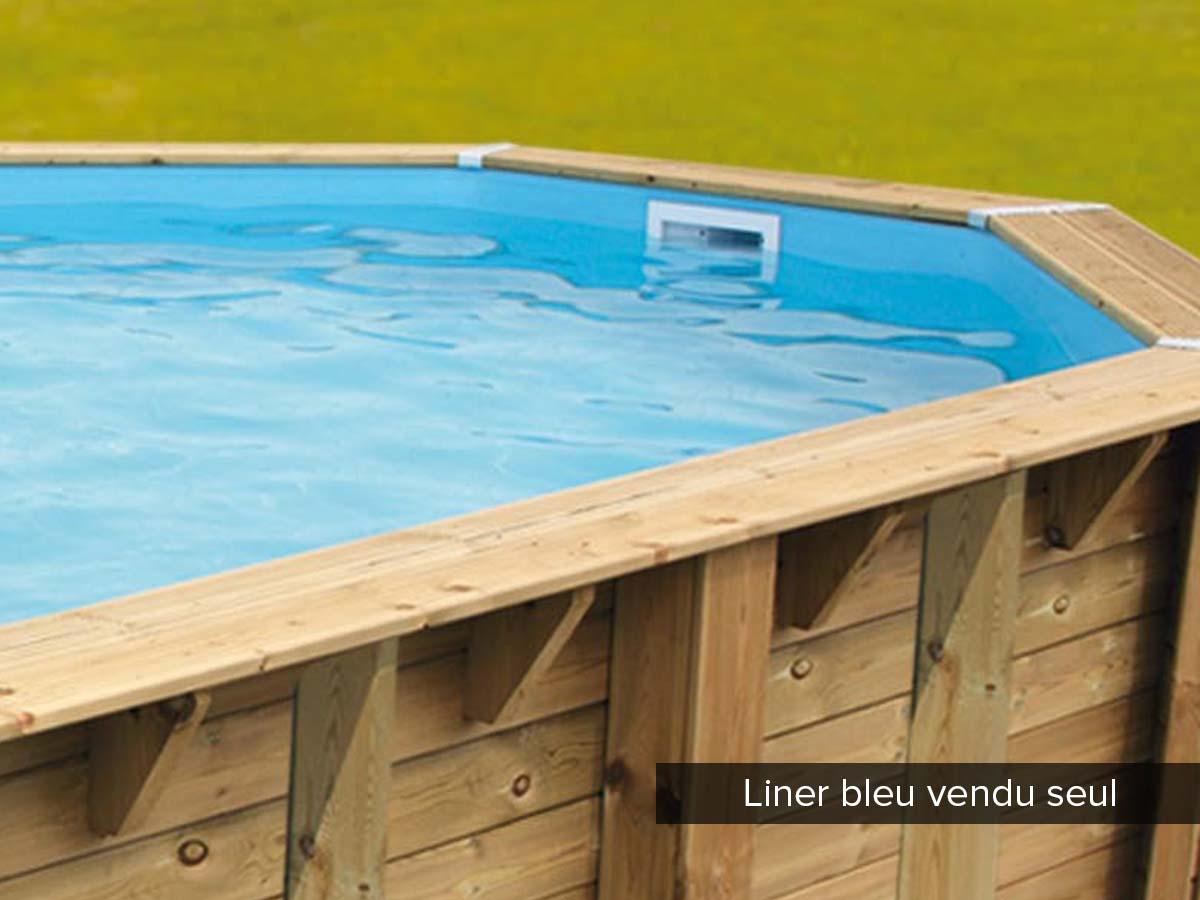 Liner seul pour piscine bois Azura 3,55 x 5,50 x 1,20 m Bleu