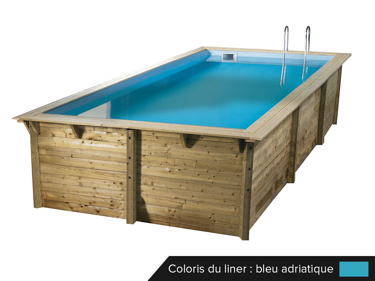 Piscine bois Sunwater 3,00 x 5,50 x 1,40 m - Liner bleu. Piscine bois Sunwater 3,00 x 5,50 x 1,40 m - Liner bleu