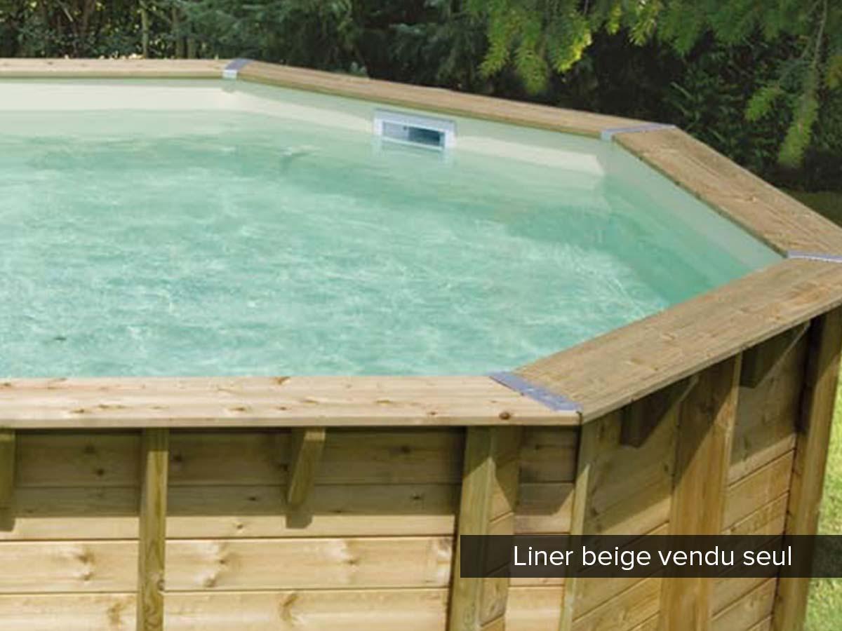 Liner seul pour piscine bois Océa 8,60 x 4,70 x 1,30 m Beige