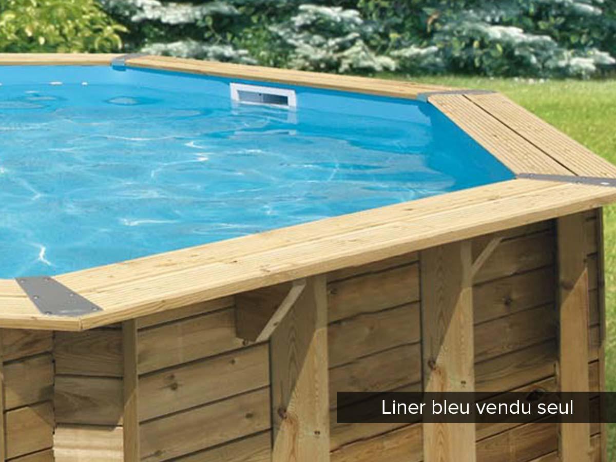 Liner seul pour piscine bois Océa Ø 5,80 x 1,30 m Bleu