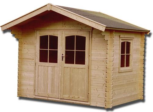 Abri de jardin en bois massif 34 mm - 8,88 m²