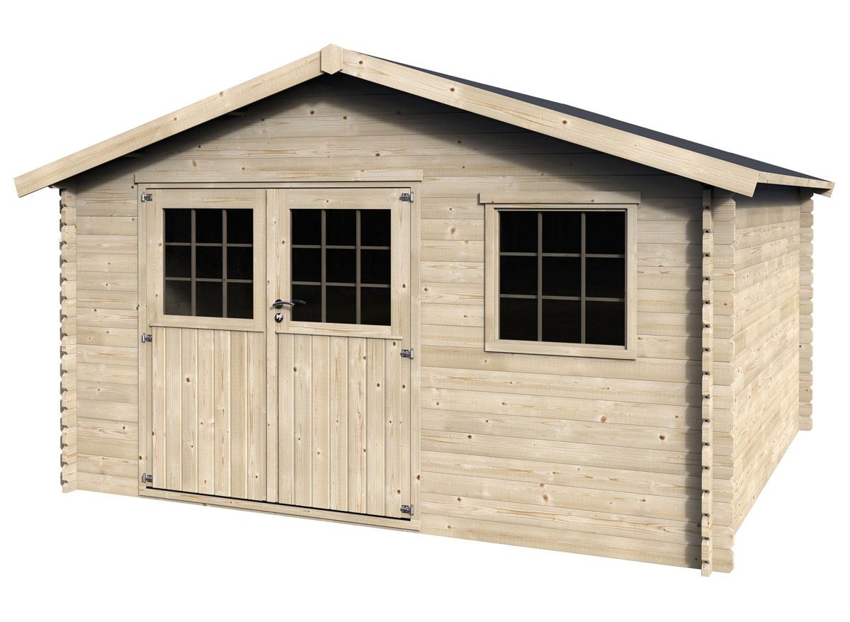 Abri de jardin bois Valfor 34 mm -15,84 m²