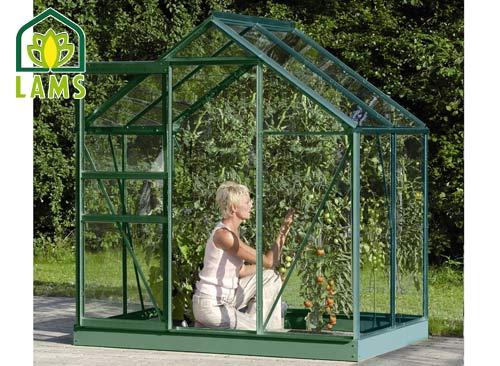 Serre en alu laqué vert et verre VENUS LAMS - 2,50 m² pour 529€