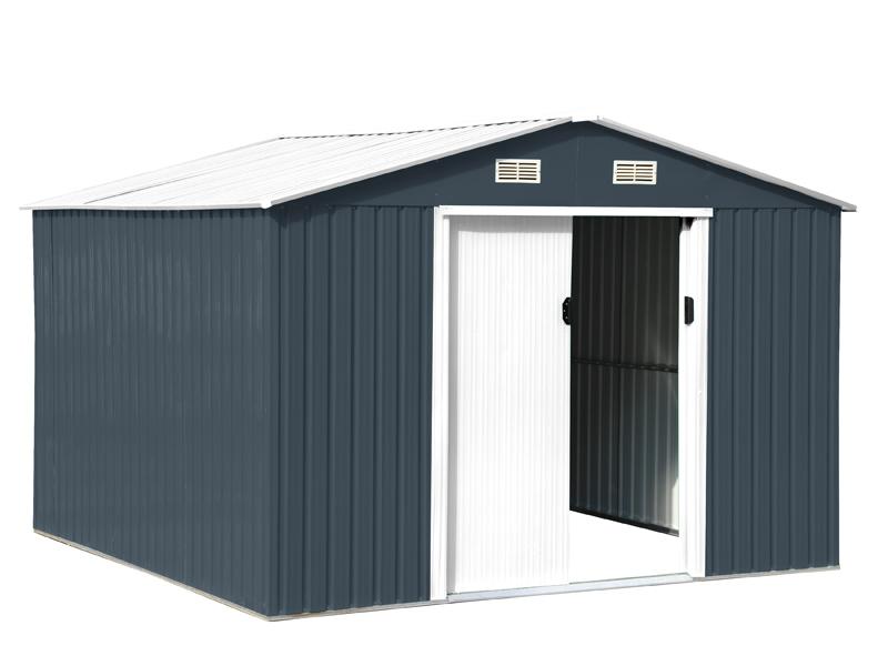 Abri de jardin en métal Anthracite & Blanc LAMS - 9 m² pour 615€