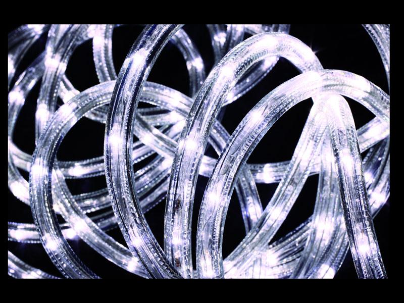 Guirlande lumineuse extérieur Tube LED 8 Fonctions 10 m Blanc