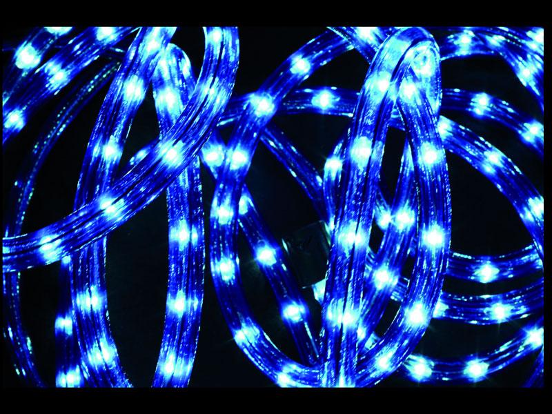 Guirlande lumineuse extérieur Tube LED 8 Fonctions 10 m Bleu