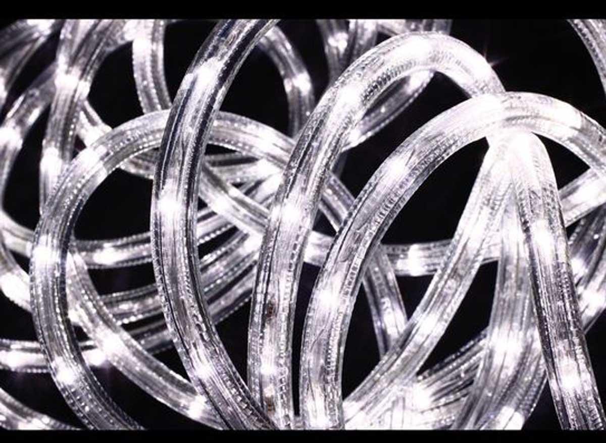 Guirlande lumineuse extérieur Tube LED 8 fonctions 18 m Blanc