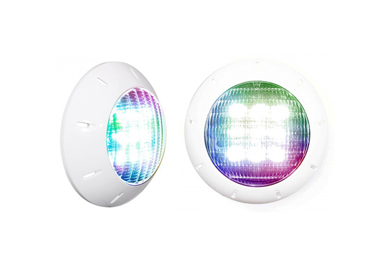 Projecteur LED 40W RGBW GAX30 Gaïa II + enjoliveur blanc - CCEI