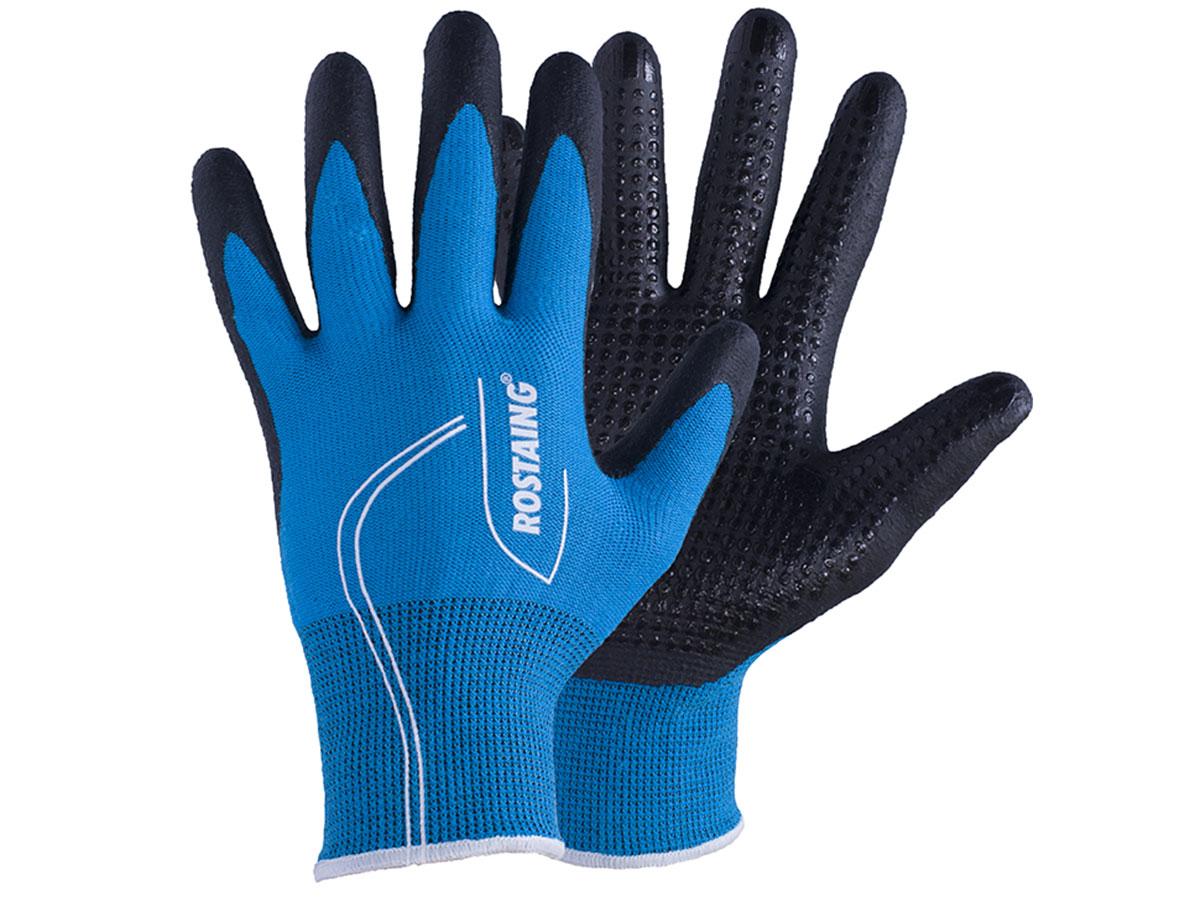 Gants de protection Canada pour jardinage mi-saison T7 Bleu électrique